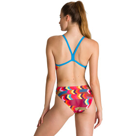 arena Geocentric Challenge Back One Piece Swimsuit Women turquoise/multi